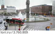 Купить «Дорожное движение и фонтан на площади Sergels, Стокгольм, Швеция, таймлапс», видеоролик № 3760809, снято 17 августа 2011 г. (c) Losevsky Pavel / Фотобанк Лори