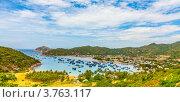 Купить «Панорамный вид на рыбацкую деревню Винь Hy. Нинь Тхуан», фото № 3763117, снято 30 июля 2012 г. (c) Ольга Хорошунова / Фотобанк Лори