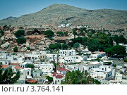 Вид на город Линдос,остров Родос (2012 год). Стоковое фото, фотограф Elena Guseva / Фотобанк Лори