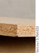 Купить «Дерево-стружечная плита (ДСП) средней толщины на срезе», фото № 3764633, снято 20 августа 2012 г. (c) Ольга Денисова / Фотобанк Лори