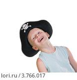 Купить «Мальчик в пиратской шляпе смеется», фото № 3766017, снято 14 августа 2012 г. (c) Кузнецова Юлия (aka Syaochka) / Фотобанк Лори