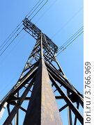 Металлическая конструкция для линии электропередачи. Стоковое фото, фотограф Алексей Макшаков / Фотобанк Лори