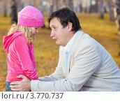 Купить «Папа жалеет дочку», фото № 3770737, снято 9 октября 2011 г. (c) Гладских Татьяна / Фотобанк Лори