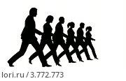 Купить «Силуэты на белом фоне. Люди маршируют в строю», видеоролик № 3772773, снято 9 января 2008 г. (c) Losevsky Pavel / Фотобанк Лори