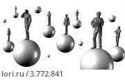 Купить «Бизнесмены на шарах на белом фоне», видеоролик № 3772841, снято 28 апреля 2009 г. (c) Losevsky Pavel / Фотобанк Лори