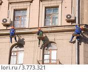 Покраска фасада (2012 год). Редакционное фото, фотограф Алёшина Оксана / Фотобанк Лори