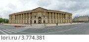 Купить «Дворец Лувр (панорама). Париж, Франция», фото № 3774381, снято 8 мая 2012 г. (c) Владимир Журавлев / Фотобанк Лори