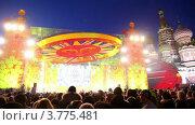 Купить «Люди празднуют Масленицу», видеоролик № 3775481, снято 10 января 2012 г. (c) Losevsky Pavel / Фотобанк Лори