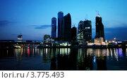 Купить «Вид с реки на Москву», видеоролик № 3775493, снято 18 января 2012 г. (c) Losevsky Pavel / Фотобанк Лори