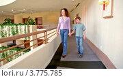 Купить «Мама с сыном идут по балкону, девочка идет на фоне», видеоролик № 3775785, снято 10 марта 2012 г. (c) Losevsky Pavel / Фотобанк Лори