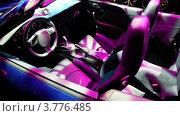 Купить «Салон кабриолета, раскрашенный иллюминацией», видеоролик № 3776485, снято 15 января 2012 г. (c) Losevsky Pavel / Фотобанк Лори