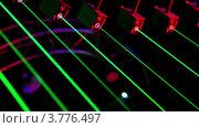 Купить «Лучи лазера в ночном клубе», видеоролик № 3776497, снято 19 января 2012 г. (c) Losevsky Pavel / Фотобанк Лори