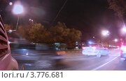 Купить «В свете ночных фонарей автомобиль едет по дороге (таймлапс)», видеоролик № 3776681, снято 1 февраля 2012 г. (c) Losevsky Pavel / Фотобанк Лори