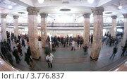 Купить «Люди на станции метро Комсомольская, таймлапс», видеоролик № 3776837, снято 1 февраля 2012 г. (c) Losevsky Pavel / Фотобанк Лори