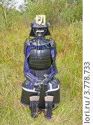 Купить «Японский средневековый черный лакированный доспех самурая», фото № 3778733, снято 25 августа 2012 г. (c) Иван Марчук / Фотобанк Лори