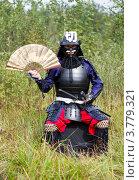 Купить «Самурай в доспехе с веером», фото № 3779321, снято 25 августа 2012 г. (c) Иван Марчук / Фотобанк Лори