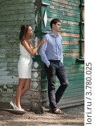 Купить «Двое влюблённых выясняют отношения», фото № 3780025, снято 15 июля 2012 г. (c) Михаил Иванов / Фотобанк Лори