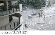 Купить «Оживленное движение у стадиона, Мадрид, таймлапс», видеоролик № 3781221, снято 20 апреля 2012 г. (c) Losevsky Pavel / Фотобанк Лори