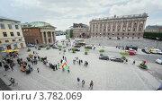 Купить «Небольшая демонстрация на площади у здания парламента Швеции», видеоролик № 3782069, снято 29 июня 2012 г. (c) Losevsky Pavel / Фотобанк Лори