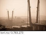 Строительство моста в г.Владивостоке. Стоковое фото, фотограф Ирина Кириенко / Фотобанк Лори