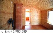 Купить «Спальня в деревянном доме», видеоролик № 3783389, снято 16 мая 2012 г. (c) Losevsky Pavel / Фотобанк Лори