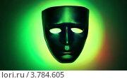 Купить «Черная театральная маска в кольце света, который изменяет цвет», видеоролик № 3784605, снято 31 марта 2012 г. (c) Losevsky Pavel / Фотобанк Лори