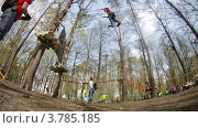 Купить «Люди отдыхают в парке Панда, Москва, таймлапс», видеоролик № 3785185, снято 29 мая 2012 г. (c) Losevsky Pavel / Фотобанк Лори