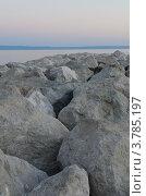 Каменные валуны на морском побережье (2012 год). Стоковое фото, фотограф Александр Тесевич / Фотобанк Лори
