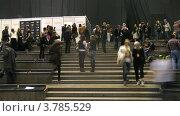 Купить «Люди ходят за кулисами на VOLVO-Неделя моды, таймлапс», видеоролик № 3785529, снято 26 апреля 2012 г. (c) Losevsky Pavel / Фотобанк Лори