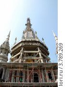 Купить «Строящийся буддистский храм. Краби, Таиланд», фото № 3789269, снято 30 марта 2012 г. (c) Светлана Колобова / Фотобанк Лори
