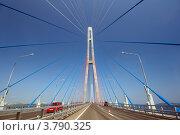 Купить «Вантовый мост. Владивосток, Приморский край», фото № 3790325, снято 13 августа 2012 г. (c) Некрасов Андрей / Фотобанк Лори