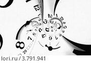 Спиральный циферблат со стрелками, иллюстрация № 3791941 (c) Liseykina / Фотобанк Лори