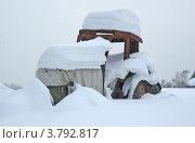 Трактор засыпанный снегом. Стоковое фото, фотограф Анастасия Нестерова / Фотобанк Лори