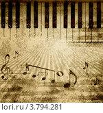 Купить «Фон с клавишами и нотами», иллюстрация № 3794281 (c) Sergey Nivens / Фотобанк Лори