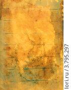 Желтая бумага с абстрактным зелено-коричневым рисунком (для фона) Стоковое фото, фотограф Юлия Шевченко / Фотобанк Лори