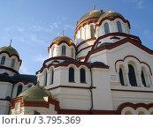 Купить «Новоафонский монастырь. Центральный храм.», фото № 3795369, снято 23 июля 2012 г. (c) Юрий Серебряков / Фотобанк Лори