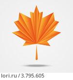Купить «Кленовый лист оригами», иллюстрация № 3795605 (c) Евгения Малахова / Фотобанк Лори