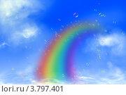 Радуга. Стоковая иллюстрация, иллюстратор Андрей Левошко / Фотобанк Лори