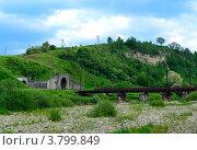 Железнодорожный тоннель в горах. Стоковое фото, фотограф Артур Худолий / Фотобанк Лори