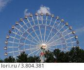 Колесо обозрения на ВВЦ, Москва (2009 год). Редакционное фото, фотограф Владислав Чеканин / Фотобанк Лори