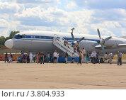 Купить «Люди у самолёта Ил-18», эксклюзивное фото № 3804933, снято 12 августа 2012 г. (c) Василий Пешненко / Фотобанк Лори