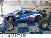 Автомобиль Ferrari 458 российской команды Esta Motorsports (2012 год). Редакционное фото, фотограф Николай Винокуров / Фотобанк Лори