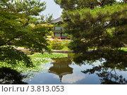 Купить «Сеул. Дворец  Кёнбоккун. Отражение беседки «Хянвончжон»  в  лотосовом пруду (Seoul, Gyeongbokgung, Hyangwonjeong)», фото № 3813053, снято 8 июля 2012 г. (c) Виктория Катьянова / Фотобанк Лори