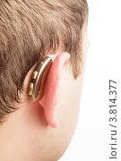 Купить «Слуховой аппарат за ухом», фото № 3814377, снято 15 октября 2011 г. (c) Оксана Ковач / Фотобанк Лори