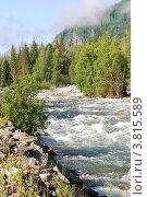 Купить «Река Мульта. Горный Алтай», фото № 3815589, снято 15 июля 2009 г. (c) Анна Омельченко / Фотобанк Лори