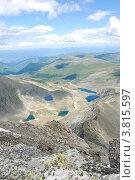 Купить «Вид с горы Колбан. Горный Алтай», фото № 3815597, снято 13 июля 2009 г. (c) Анна Омельченко / Фотобанк Лори