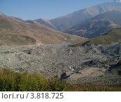 След от ледника Колка у Кармадона (2004 год). Редакционное фото, фотограф Владимир Трифонов / Фотобанк Лори