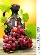 Кувшин и гроздь винограда. Стоковое фото, фотограф Марина Сапрунова / Фотобанк Лори