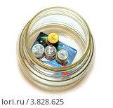 Купить «Деньги в банке на карточке», эксклюзивное фото № 3828625, снято 12 сентября 2012 г. (c) Юрий Морозов / Фотобанк Лори