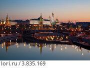 Купить «Ночная Москва», фото № 3835169, снято 14 сентября 2012 г. (c) Наталья Волкова / Фотобанк Лори